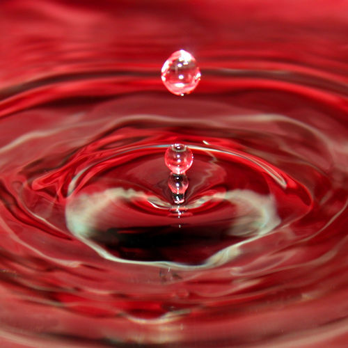 Water droplet red